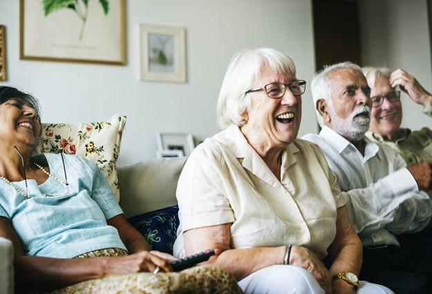 senior laughing