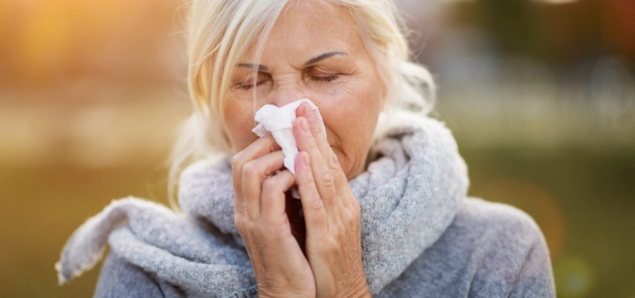 Senior with the flu